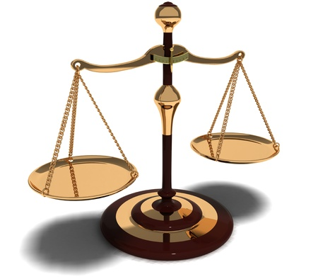 traditional scales of justice Stock Photo