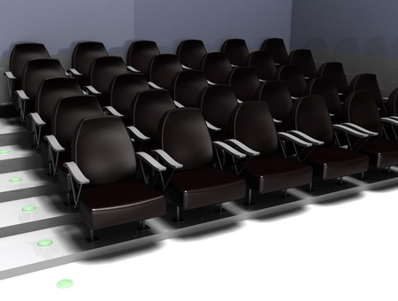 chairs in the cinema Stock Photo