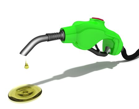 a drop of gasoline Stock Photo