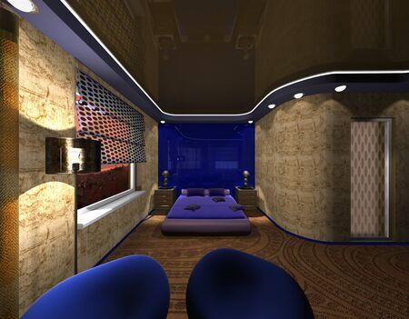 Bedroom Design in Maya style