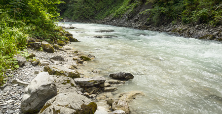 cristal: river with cristal water on nature background Stock Photo