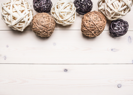 Decorative Balls Made Of Rattan Lined In A Row Interior Border Delectable Rattan Decorative Balls