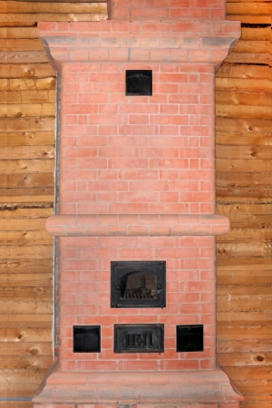 New Brick Oven On The Foundation In Timber House Under Construction Photo