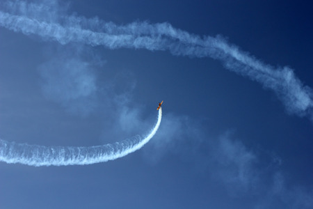 Sporting aerobatics show photo Stock Photo