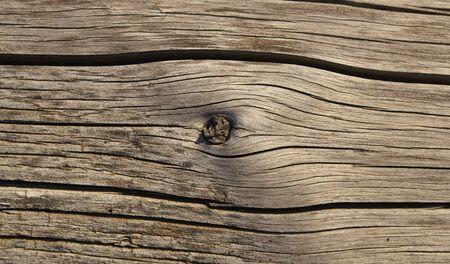 knotting: Old shaky wood plank with khot texture photo Stock Photo
