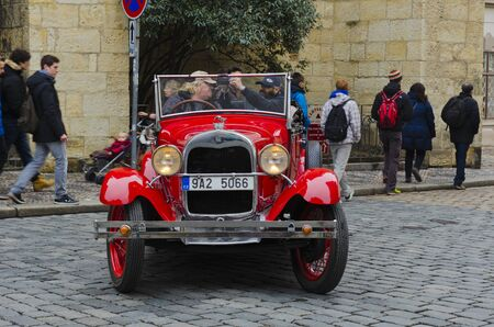 antique: Antique car, a well-preserved old car