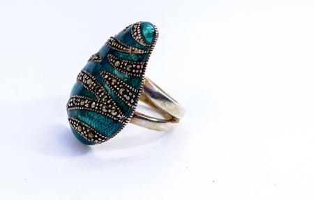 Womens jewelery and jewelery on a white background Stock Photo