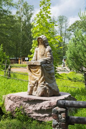 Monastery of Our Lady of Kazan. Statue of a monk.