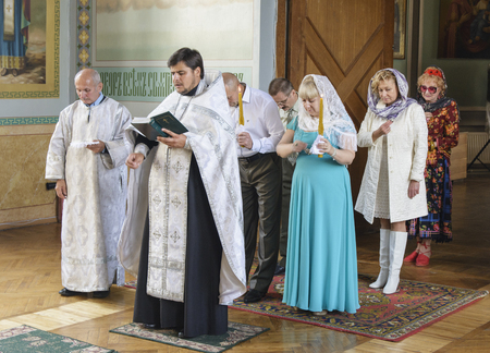 Church wedding of a married couple on October 2, 2016 in the Orthodox Church of Zhytomyr