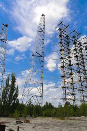 power giant: Large field of the looted antenna of the military object of the PRO of the USSR. Dead military unit. Consequences of the Chernobyl disaster, August 2017.