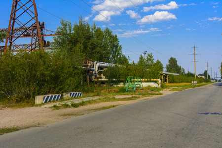 Confinement at the 4 reactor of the Chernobyl nuclear power plant. Dead radioactive zone. Consequences of the Chernobyl nuclear disaster, August 2017. Editorial