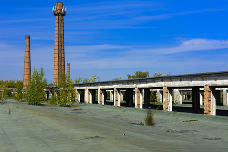 The destroyed building of the factory workshop, which worked in the defense industry of Ukraine. The trees grew on the roof. Robbery and an act of vandalism. September 2017 Editorial
