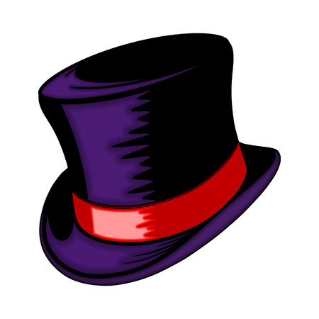 Classic hat with a red ribbon. The gentlemans headgear