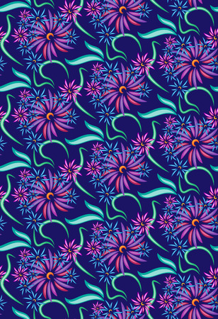 rose: Seamless pattern in the form of a bouquet of flowers. Interlaced pattern.