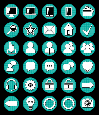 intended: Icons for web designers is intended for web sites. Illustration