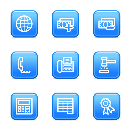 Finance 2 web icons, blue glossy buttons series Stock Vector - 3571229