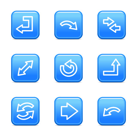 back link: Arrows icons, blue glossy buttons series Illustration