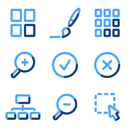 preview: Image viewer icons, blue contour series