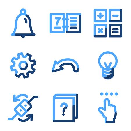 calc: Organizer icons, blue contour series