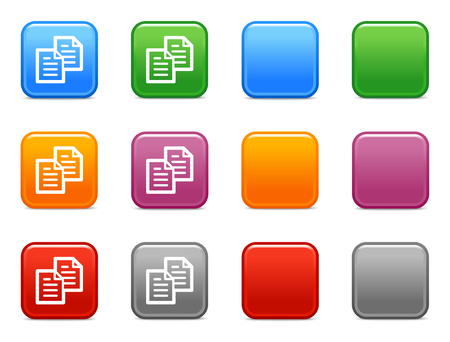Color buttons with copy icon Stock Vector - 3640845