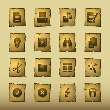 papiro: papiro documento icone
