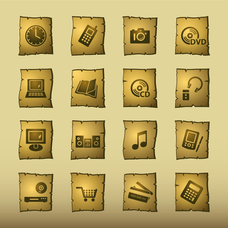 papyrus home electronics icons Vector