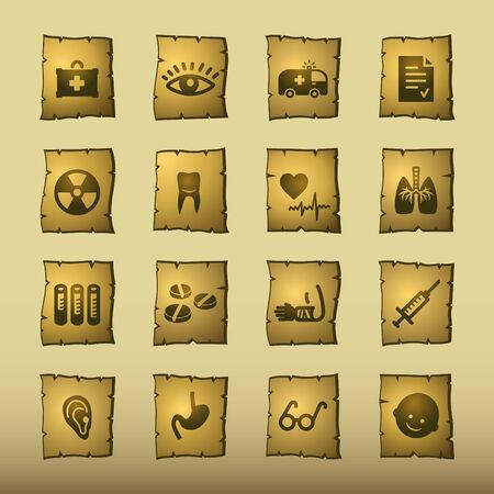 papyrus medicine icons Stock Vector - 3640777