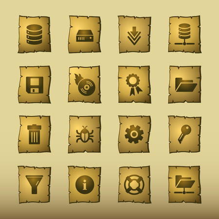 raid: papyrus server icons Illustration