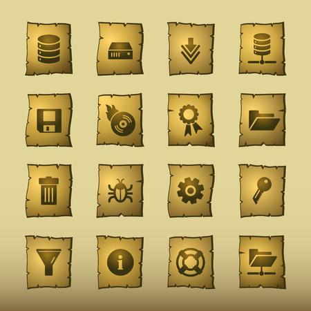 configuration: papyrus server icons Illustration