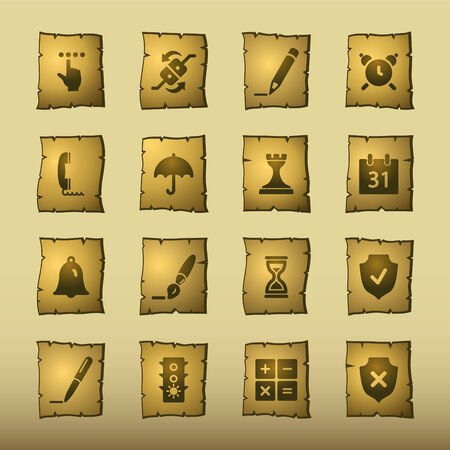 papyrus software icons Vector