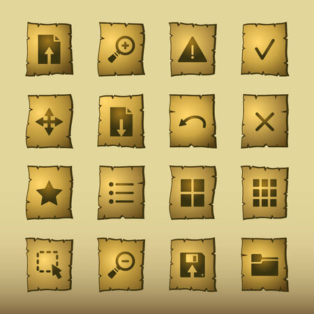papyrus viewer icons Stock Vector - 3640769