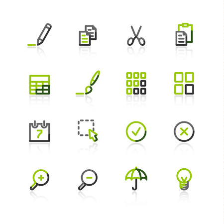 green dates: green-gray publish icons