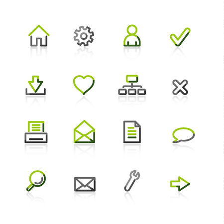green-gray web icons Stock Vector - 3644569