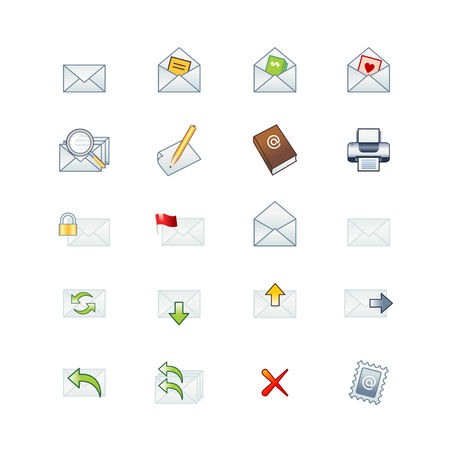 project mail icons Vector