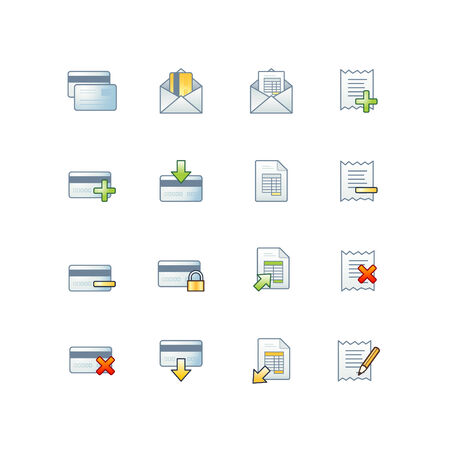 accounts payable: project banking icons