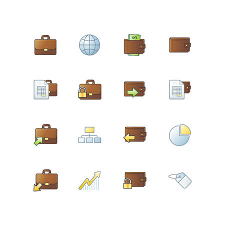 project business icons Stock Vector - 3644610