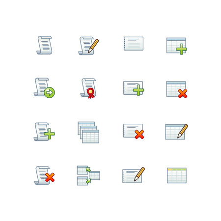 project database icons 1 Vector