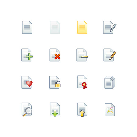 project documents icons Stock Vector - 3644568