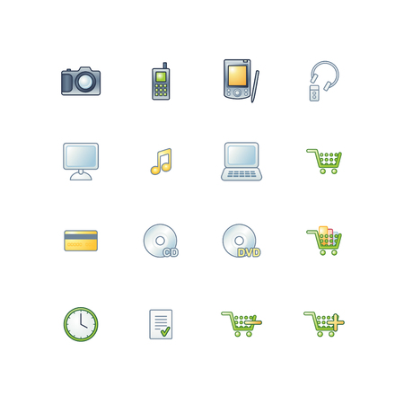 project e-shop icons Vector