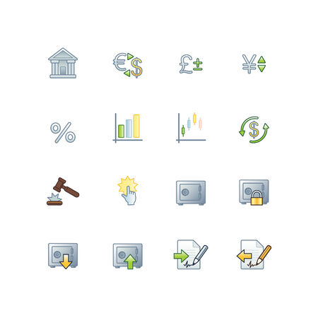 project finance icons Vector