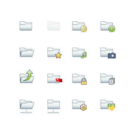 project folders icons Stock Vector - 3644567