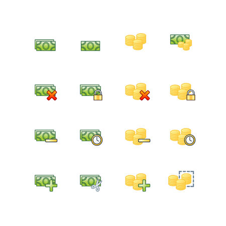 project money icons Vector