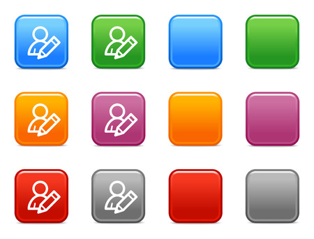 Color buttons with edit user icon Stock Vector - 3657572