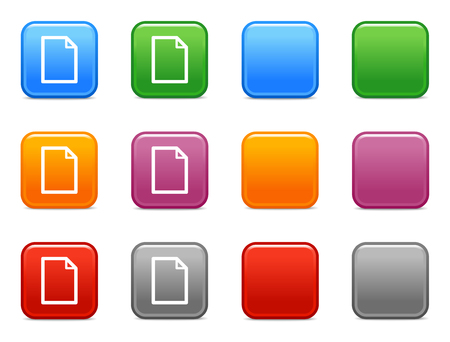 Color buttons with new document icon Stock Vector - 3657561