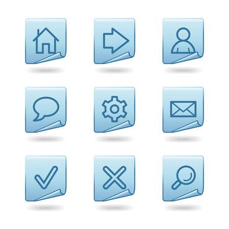 feedback label: Web icons, blue sticker series