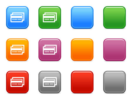 visa credit card: Color buttons with credit card icon