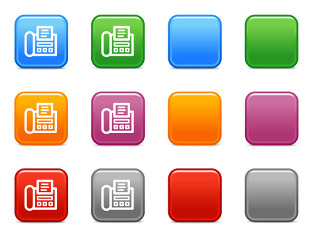 icono fax: Color de los botones con el icono de fax