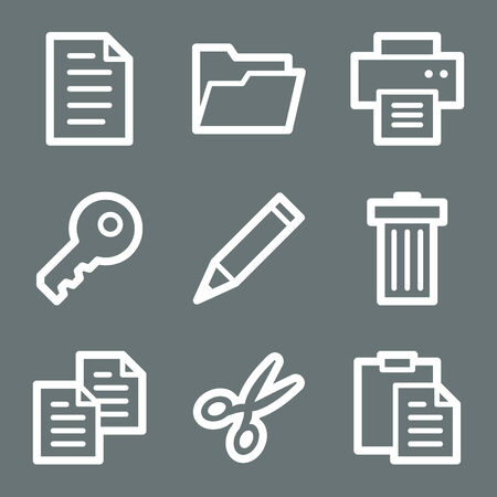 White document web icons V2 Vector