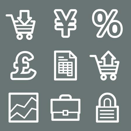 White e-business web icons V2 Vector