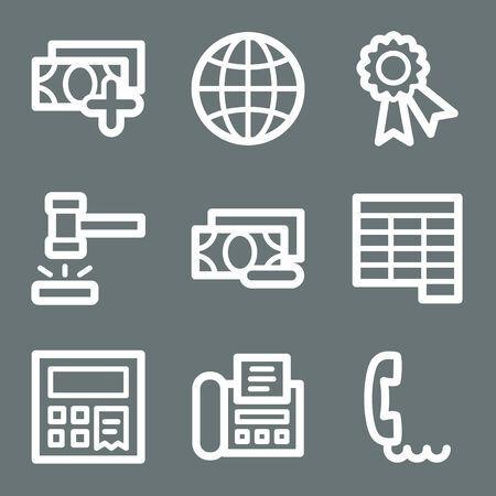 White finance web icons V2 set 2 Stock Vector - 3732227
